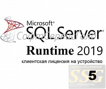 Лицензия на 5 мест к MS SQL Server 2019 Runtime